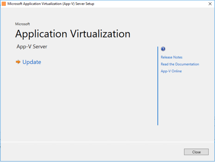 Installing Microsoft App-V 5 1 on Windows Server 2016 – WilkyIT
