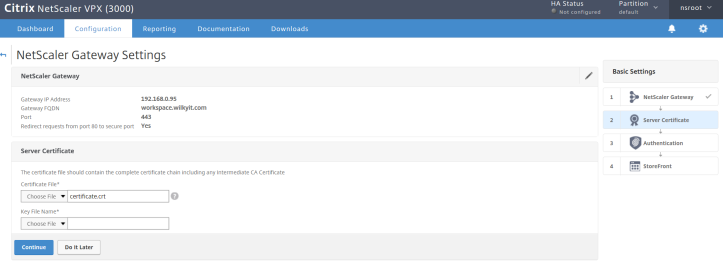 Installing & Configure Citrix ADC 12 x for Citrix Virtual