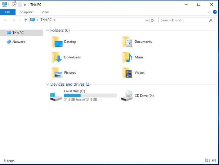 Remove Quick Access from File Explorer in Windows Server 2016