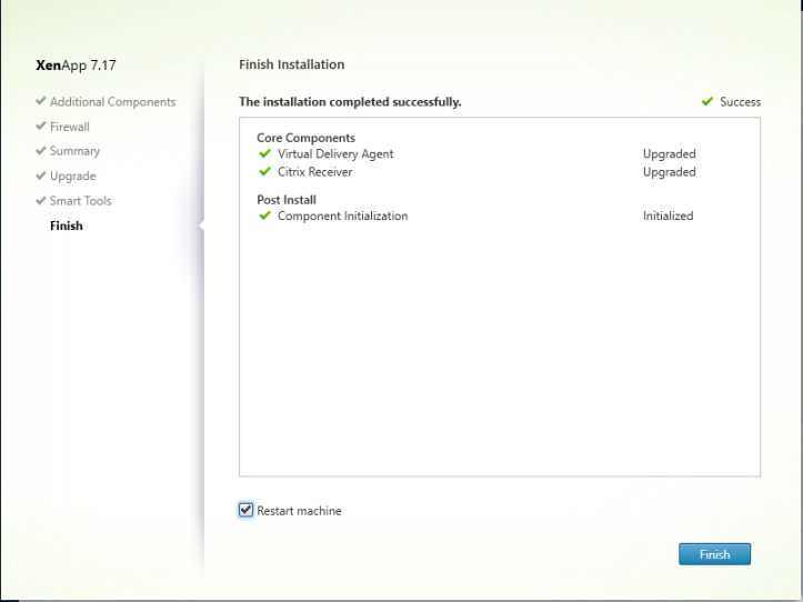 Upgrading Citrix Virtual Apps & Desktop 7 16 to 7 17